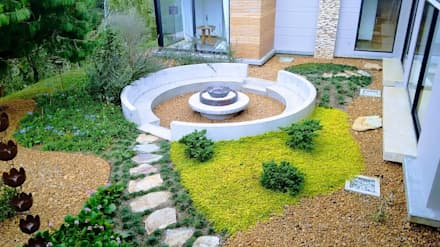 Сад камней в . Автор – Espacios Positivos