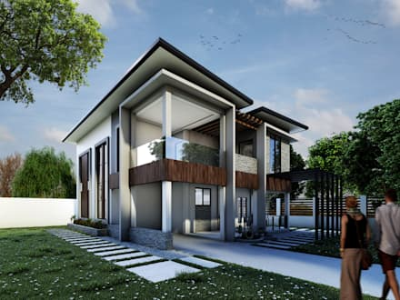 Proposed Two Storey Residential (Modern Design):  Villas by DJD Visualization and Rendering Services