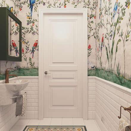 Маленький санузел: Ванные комнаты в . Автор – Diveev_studio#ZI