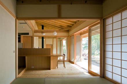暮らしを楽しむ家: 小町建築設計事務所が手掛けたリビングです。
