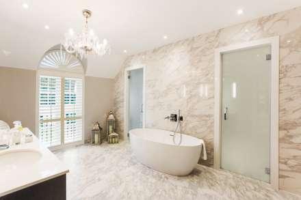 Bathroom shutters in waterproof material:  Hotels by Eden House Professional Shutters