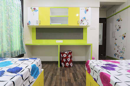 Total Interior design work in Wakad, Pune:  Baby room by Designaddict