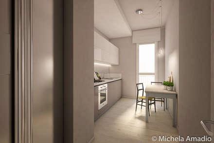 Render immobiliare: a Treviso fuori mura - ristrutturazione: Cucina in stile in stile Scandinavo di MichelÀ Home Staging - Studio di interni & fotografia