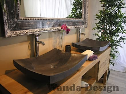 Counter onyx sink - Counter Stone sinks Flat stone wash basin - stone sink: scandinavian Bathroom by Lux4home™ Indonesia