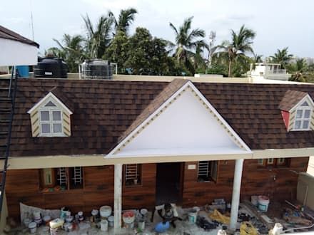 Burnt Sienna:  Roof by Sri Sai Architectural Products