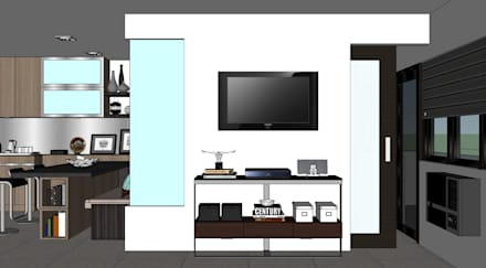 2013 PROJECTS: modern Living room by MKC DESIGN
