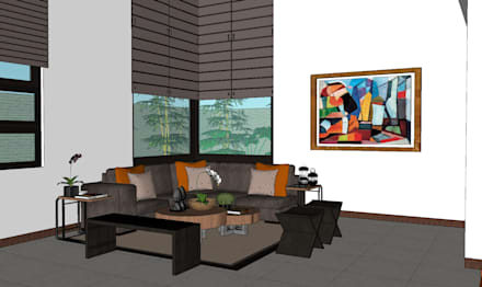 2014 PROJECTS: modern Living room by MKC DESIGN