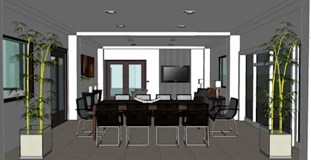 2014 PROJECTS: modern Dining room by MKC DESIGN