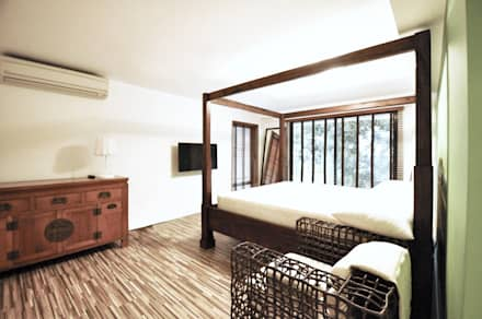Master bedroom: asian Bedroom by Nomad Office Architects 覓 見 建 築 設 計 工 作 室
