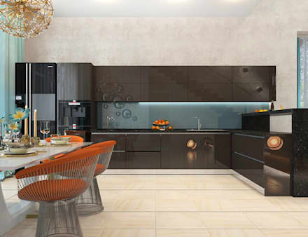 Дом в Москве (170 кв.м): Встроенные кухни в . Автор – ДизайнМастер