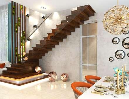 Дом в Москве (170 кв.м): Лестницы в . Автор – ДизайнМастер