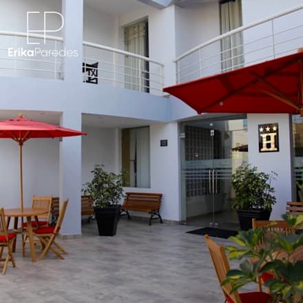 Terraza Interior: Hoteles de estilo  por EPG  Studio