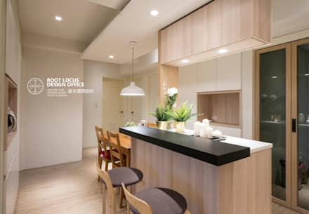 scandinavian Dining room by 築本國際設計有限公司