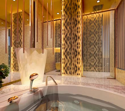 Paradise Bath: classic Bathroom by Mahesh Punjabi Associates