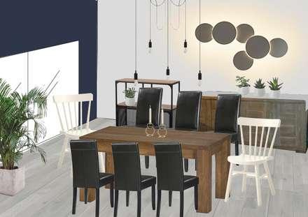 Ambiance de la future salle à manger: Salle à manger de style de style Moderne par SUR MESURE
