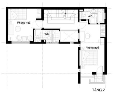 Bản vẽ thiết kế mặt bằng nhà ống 3 tầng:  Nhà gia đình by Công ty TNHH Xây Dựng TM – DV Song Phát