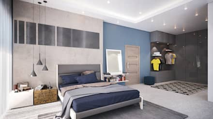 Boy's Bedroom 17 Years: modern Bedroom by Dessiner Interior Architectural