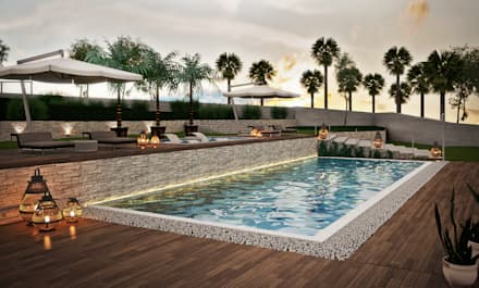 Various Outside Entertainment Areas:  Patios by Dessiner Interior Architectural