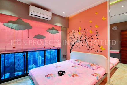 2Bhk Residence -1: modern Nursery/kid's room by icon projects inspace pvt ltd