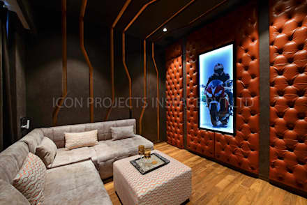 modern Media room by icon projects inspace pvt ltd