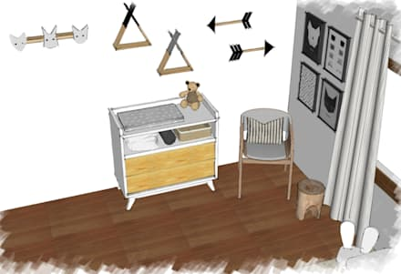 Mobiliario: Habitaciones de bebés de estilo  por JACH