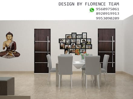 Residential project: classic Dining room by Florence Management Services