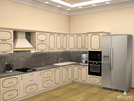 Проект дома для молодой девушки.: Кухонные блоки в . Автор – Студия дизайна Elinarti