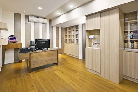 eclectic Study/office by 築室室內設計
