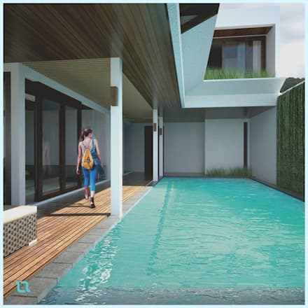 Swimming Pool // Senor Villa:  Kolam Renang by Lukemala Creative Studio