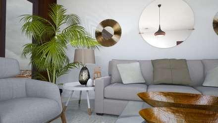 Alojamento turístico em Belém: Salas de estar escandinavas por Tezturas • Arquitectura e Decoração de Interiores