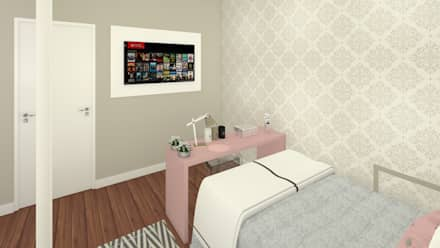 ห้องนอนเด็กหญิง by Laís Galvez Arquitetura e Interiores