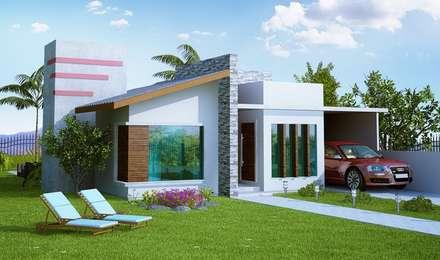 Projeto Residencial : Casas modernas por Juanna Gabriella Arquitetura e Interiores