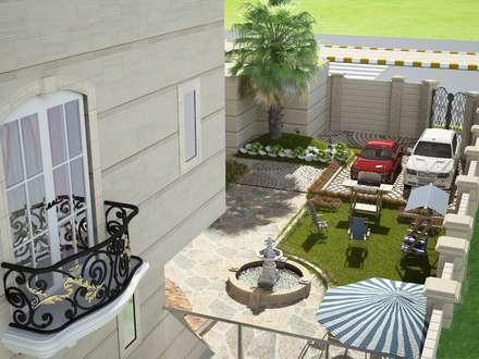 :  Front garden by بازار للتصميم الداخلي