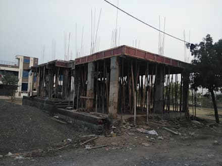 First Floor Slab:  Multi-Family house by Cfolios Design And Construction Solutions Pvt Ltd