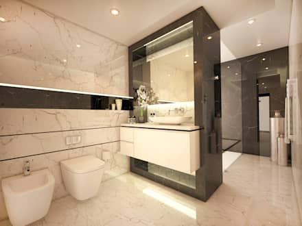 Main Bathroom: modern Bathroom by Dessiner Interior Architectural