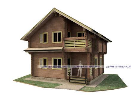 дом из профилированного бруса до 100 кв. м: Деревянные дома в . Автор – Projectstroy