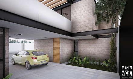 Garajes abiertos de estilo  por EMERGENTE | Arquitectura