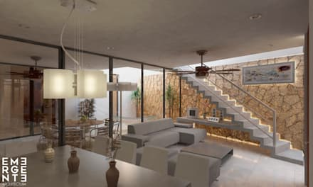 Phòng khách by EMERGENTE | Arquitectura
