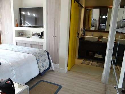 DORMITORIO: Dormitorios de estilo escandinavo por ALLEGRE ARQUITECTOS