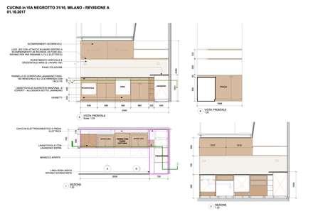 Mini loft a Milano  - Cucina in betulla: Cucina in stile in stile Scandinavo di BGP studio