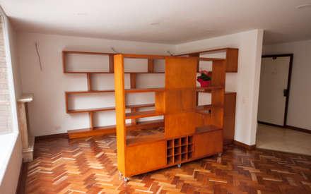 Apartamento Dimaté Gómez: Estudios y despachos de estilo moderno por AMR estudio