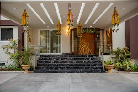 Beau Main Entry: Modern Houses By ZEAL Arch Designs