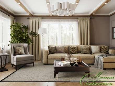 classic Living room by Компания архитекторов Латышевых 'Мечты сбываются'
