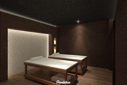 Couple Massage Room:  Ruang Komersial by Mendekor