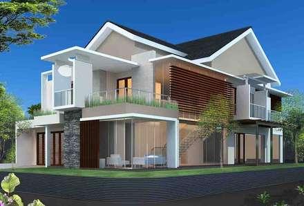 Rumah Tinggal 2 lantai:  Rumah by Adhicitta Karya Megah