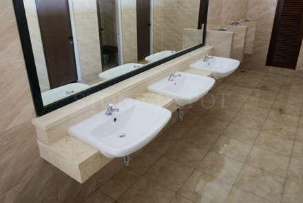 Crema Marfil Marble Vanity Top at Cebu Westown Lagoon: modern Bathroom by Stone Depot