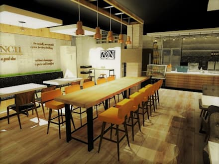 Coffee & Drinkery:  Commercial Spaces by TWINE Interior Design Studio