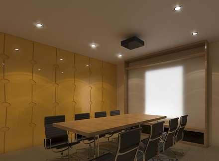 Avatar Technologies: minimalistic Media room by TWINE Interior Design Studio