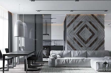 UI001: Гостиная в . Автор – U-Style design studio