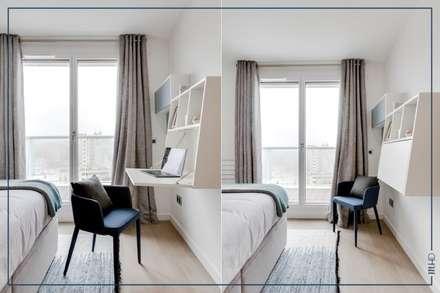 Un 63m2 en VEFA twisté à Paris: Chambre de style de style Moderne par MY HOME DESIGN